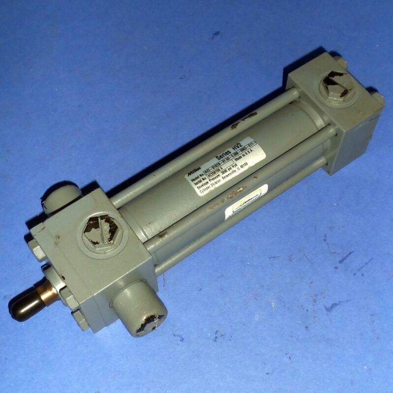 """MILLER 1-1/2"""" BORE 5"""" STROKE PNEUMATIC CYLINDER HV2-81R2B-01.50-5.000-0063-S11-1"""