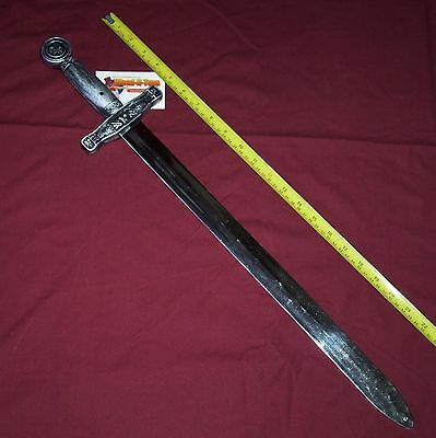 Sword - realistic looking Knight's Sword - chromium plated plastic
