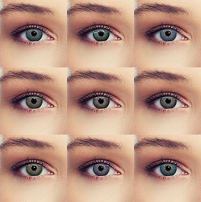 Farbige Kontaktlinsen in blau grün grau braun violett weiche natürliche Linsen