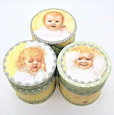 Decorative Boxes Wholesale (Infant Child Decorative Boxes John Grossman Antique Images Punch Studio Lot of)