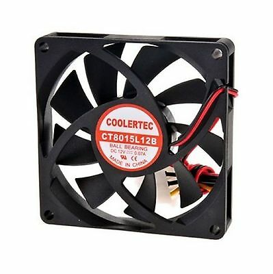 COOLERTEC PC Computer Case Cooling Fan Cooler 6cm 60mm 4Pin 60x60x25mm Silent