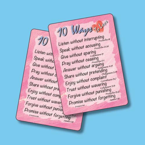 """10 Ways To Love"" - Poem - 2 Inspirational Verse Cards - sku# 645"