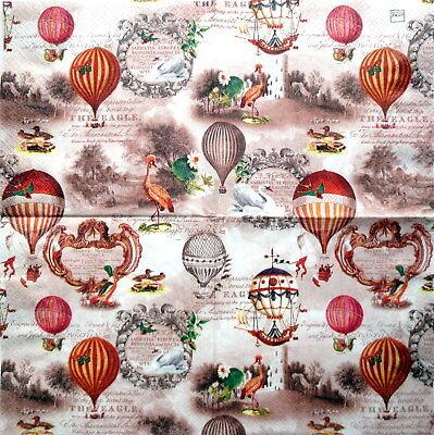 ge Ballons Nostalgie Ballonfahrt Serviettentechnik  (Vintage-ballons)