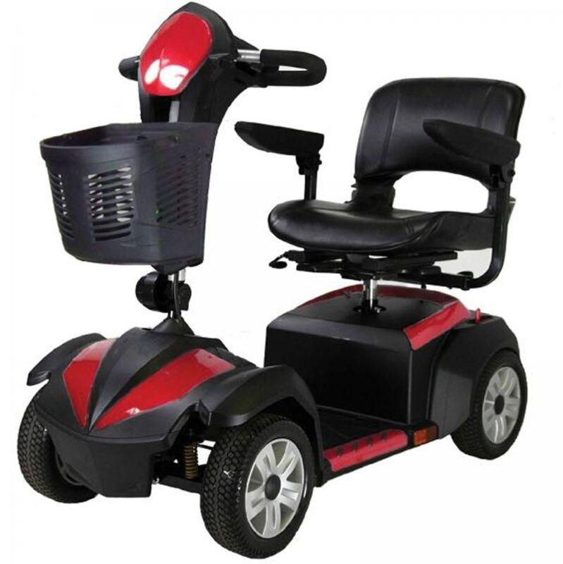 "Drive Ventura 4 Wheel Scooter, Fold Down 18"" Seat, Standard Mobility Cart Power"