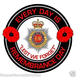 RCT Royal Corps Of Transport Remembrance Day Inside Car Window Sticker
