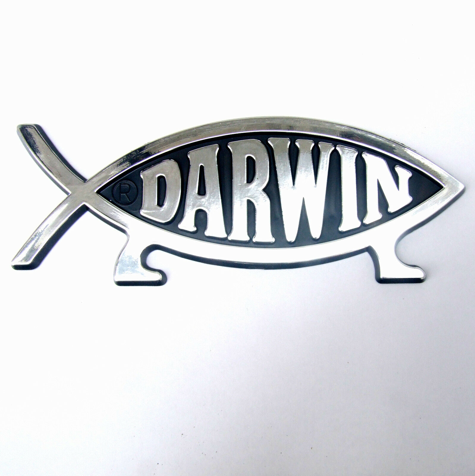 Darwin fish on legs car emblem badge symbol plaque 4 for Fish symbol on cars