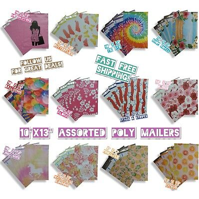180 Mix Design 10x13 Poly Mailers Variety Pack 15 Ea