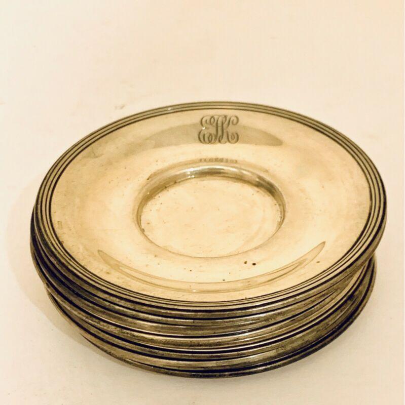 Set of 10 Gorham sterling silver plate set! 11.4oz sterling silver