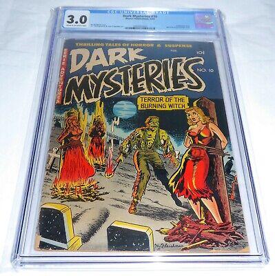 Dark Mysteries #10 CGC Universal Grade Comic Witch-Burning🔥 Bondage Cannibalism