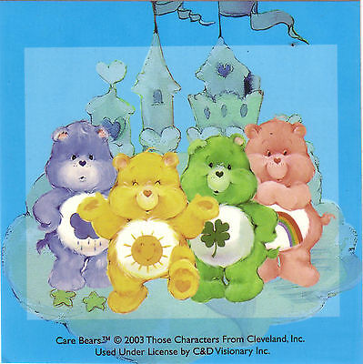 Care Bear licensed sticker rainbow bear green bear yellow bear purple (Green Care Bear)