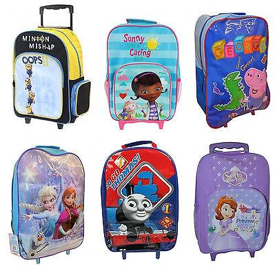 Kinder & Disney Charakter Schule Reisetrolley Rollen Rädern Tasche Ganz Neu