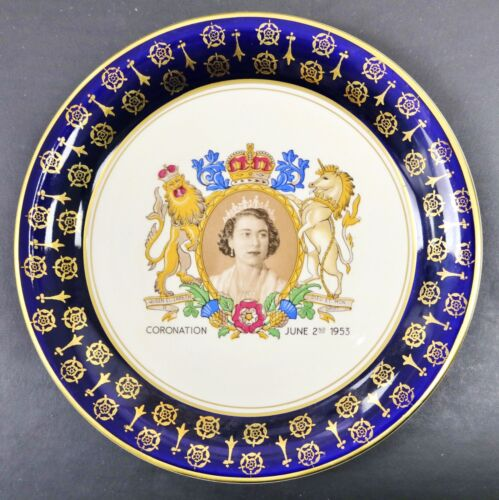 Queen Elizabeth II 1953 Coronation Plate Royal Staffordshire Pottery 8 1/2""
