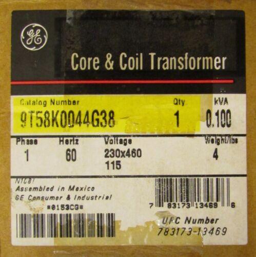 GENERAL ELECTRIC GE Single Phase Transformer .100 KVA 9T58K0944G38