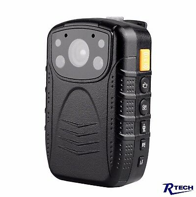 R-Tech HD 1080p Infrared Night Vision Police Body Camera Security 32 GB