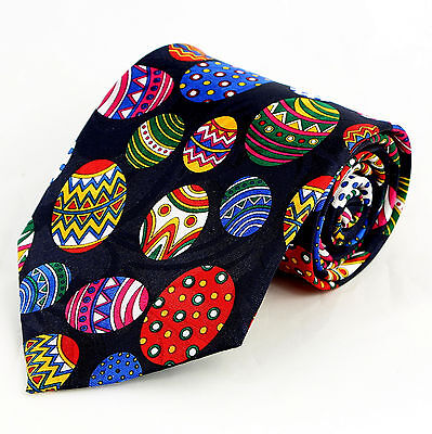 Colored Easter Eggs Mens Neck tie Holiday Decorated Egg Novelty Blue Necktie ](Blue Easter Eggs)