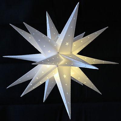 Weihnachtsstern Weiß 80cm LED Außenstern 3D Adventsstern Stern  Leuchtstern
