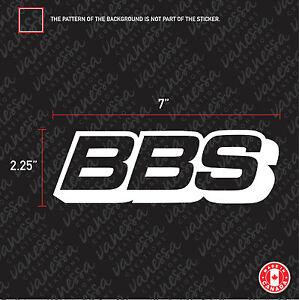 2X BBS MOTORSPORT sticker vinyl decal