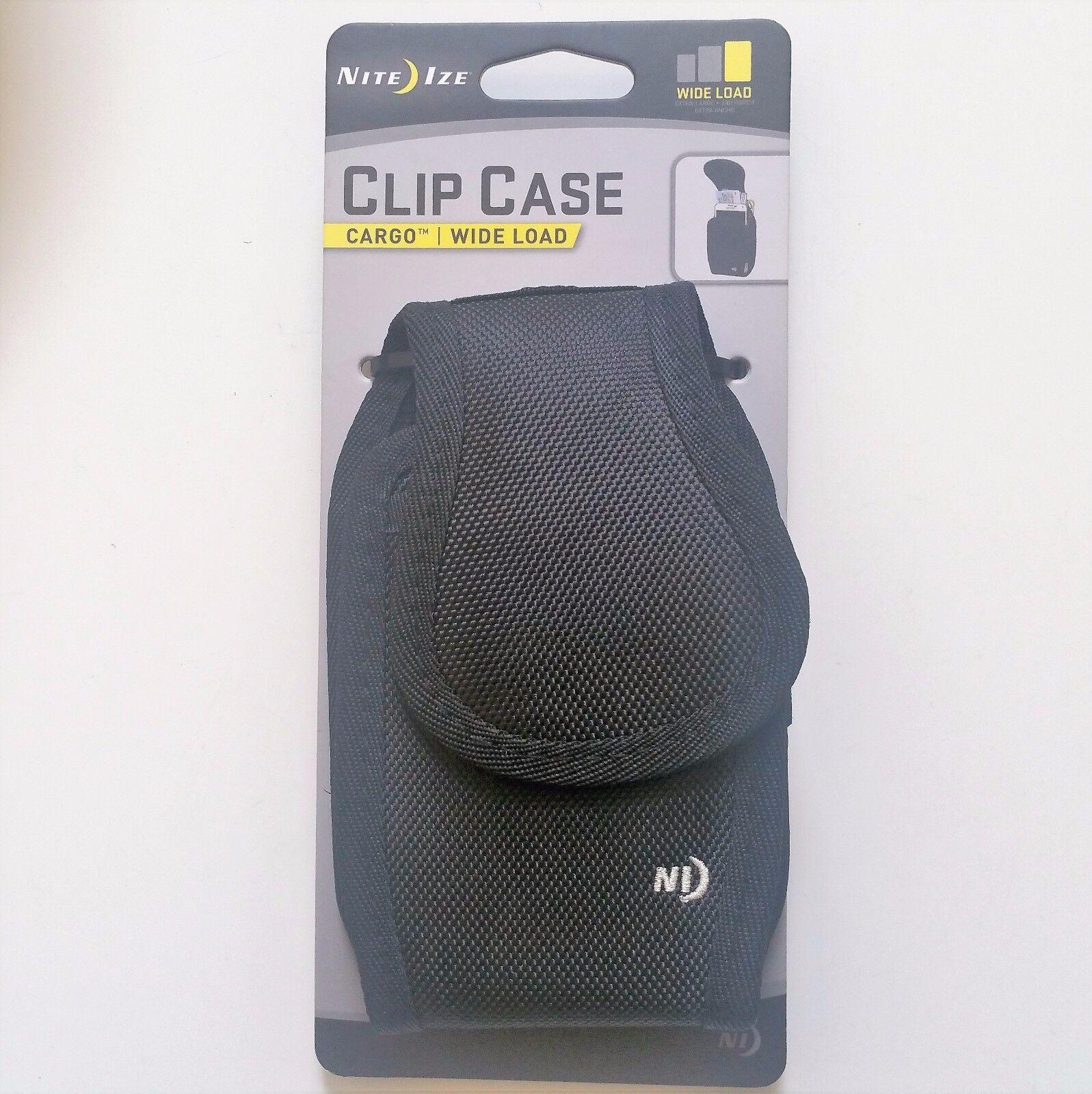 nite-ize-clip-case-cargo-cell-phone-holder-w-holster-belt-clip-wideload-blk-new