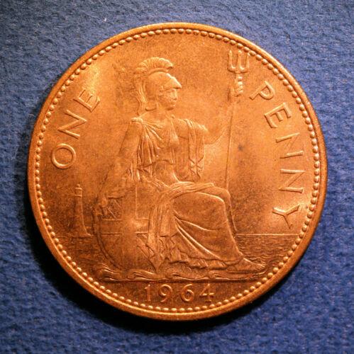 British One Penny - Elizabeth II, 1964, nice Brilliant Uncirculated condition