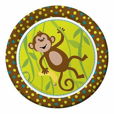 Monkey Themed Birthday Party (Monkeyin' Around Party Supplies- Monkey theme-8 3/4
