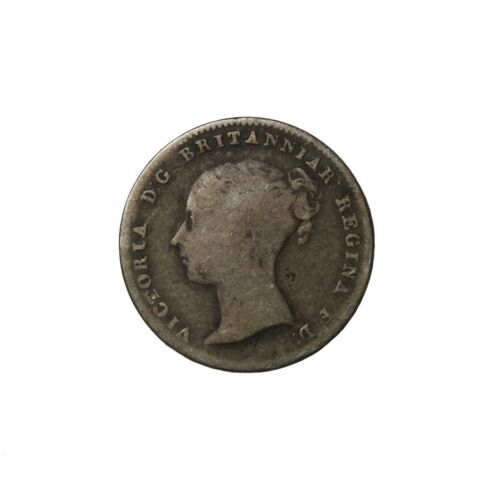 Great Britain 1859 Queen Victoria Silver Threepence Coin KM#730 3 Pence