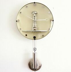 HERMLE Wall Clock STUNNING GOLD DESIGN! Translucent Modernistic Skeleton Germany