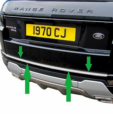Stainless steel Rear BUMPER protector step cover trim for Range Rover Evoque