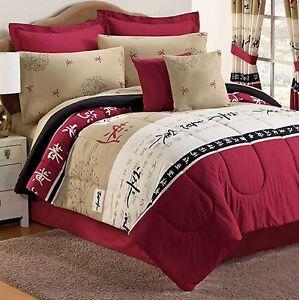 Asian japanese oriental comforter bed sets