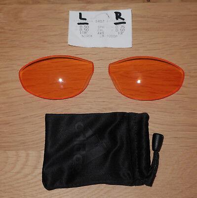 Direktverglaste Adidas Evil Eye Pro Gläser, LST Bright AF, S, A127 mit Sehstärke 168 Gläser