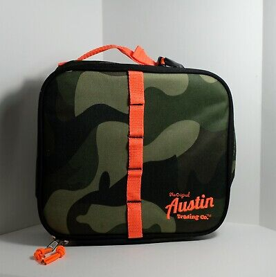 The Original Austin Trading Company Camo + Safety Orange Insulated Lunch Box Bag](The Trading Company)