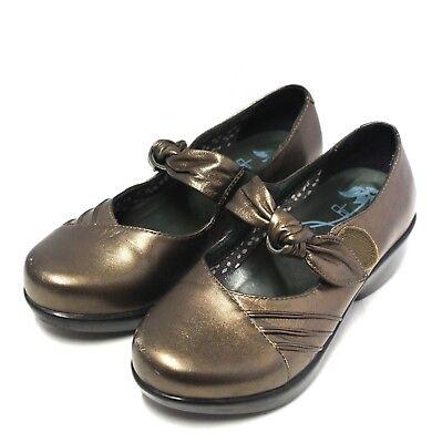 3624 Dansko Women Shoes 37 Platform Sandals Metallic Brown Leather Nurse ()