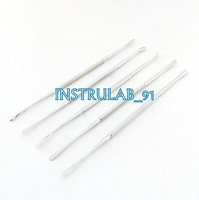 Freer Elevator 5pc Double Ended Ent Dental Maxillofacial Surgery Instrument