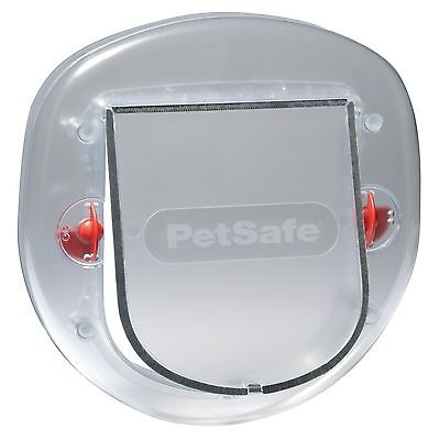 PetSafe Staywell Big Cat/Small Dog Pet Door (Frosted) - 4 Way Locking Flap -