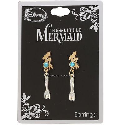 (Disney The Little Mermaid Ariel Dinglehopper Fork Faux Jewel Dangle Earrings )