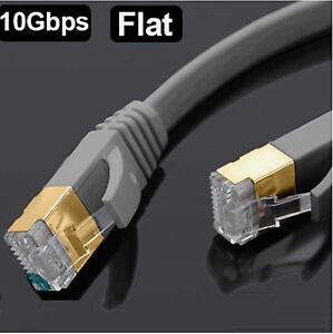 RJ45-CAT7-Red-Ethernet-SSTP-10gbps-Gigabit-Ultra-Parche-LAN-Plano-Cable-LOTE