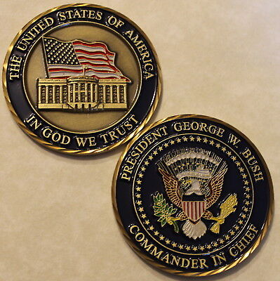 President Of The Unites States Challenge Coin George W  Bush Number  43