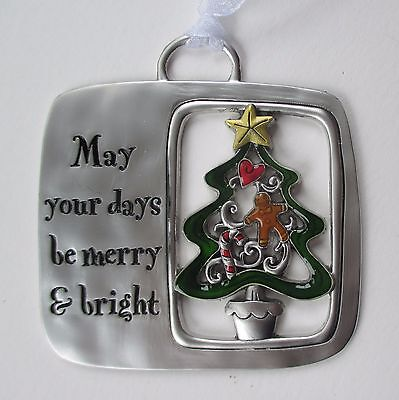 ID May your days be merry and bright Tidings of season CHRISTMAS ORNAMENT