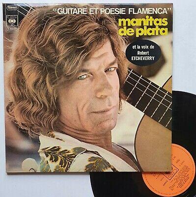 """LP 33T Manitas de Plata """"Guitare et poèsie flamenca"""" autographe - (TB/TB)"""