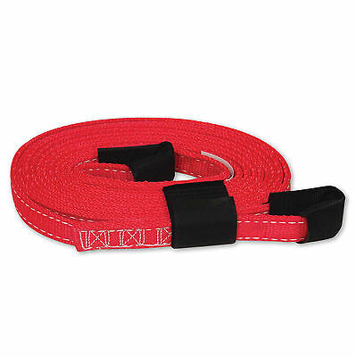 Tow Lifting Strap 1x15 7000 Lb Usa With Hook Loop Storage Fastener