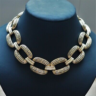 60s -70s Jewelry – Necklaces, Earrings, Rings, Bracelets Choker Necklace Gold Tone 1960's Women's Fashion Vintage Jewellery Collectable  $48.25 AT vintagedancer.com