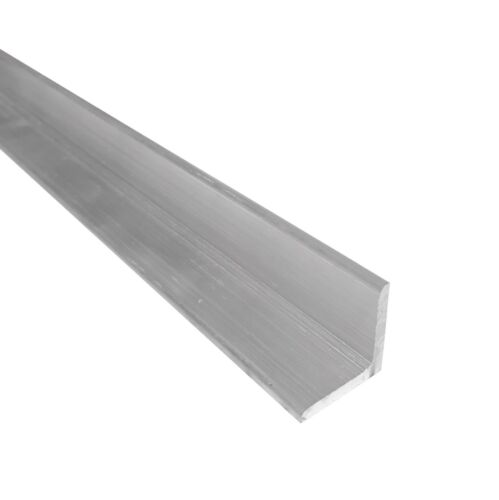 """1"""" x 1"""" Aluminum Angle 6061, 8"""" Length, T6511 Mill Stock, 1/8"""" Thick"""