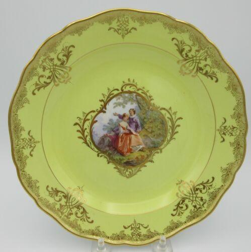 19th Century Meissen porcelain cabinet plate with portrait scene #1