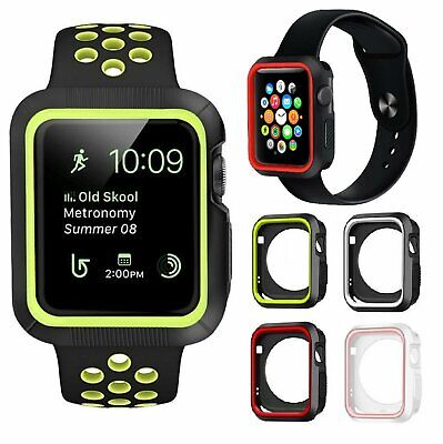 Soft Silicone TPU Bumper Frame Protective Case Cover For Apple Watch 38 42mm Cases, Covers & Skins