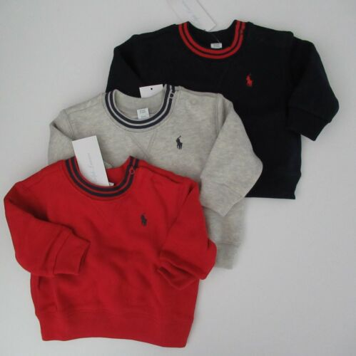 NWT Ralph Lauren Infant Cotton Blend Fleece Sweatshirt 3m 6m 9m 12m 18m 24m NEW