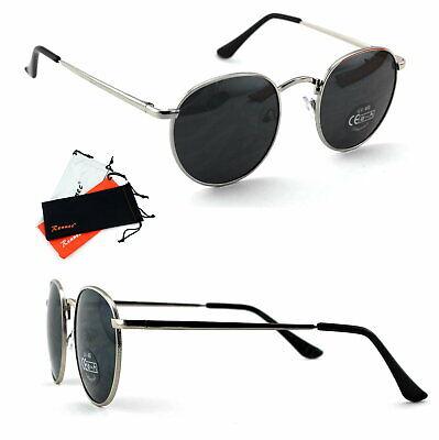 Herren Nickelbrille Sonnenbrille Panto Metall Rahmen Oval Silber Schwarz CL1