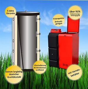 Pelletkessel Thermoflux Pelling 35 kW Pelletsheizung Pellets Pufferspeicher Set