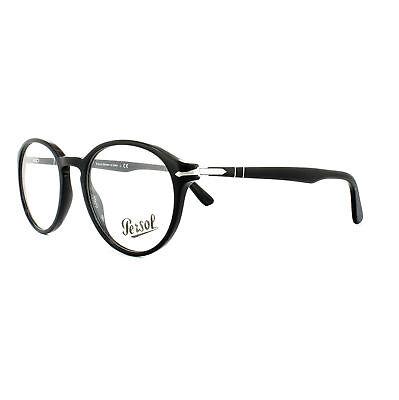 Persol Glasses Frames PO 3162V 95 Black Mens 52mm