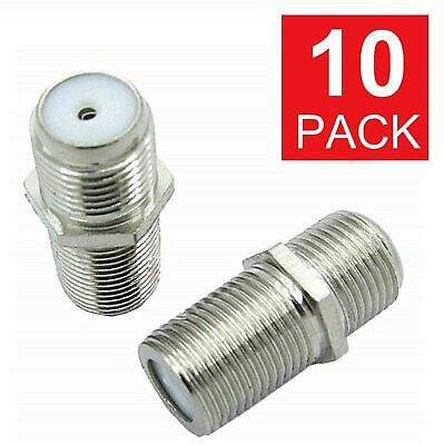 10PCS F Type Coax Coaxial Cable Coupler Female Jack Adapter Connector M380 Consumer Electronics