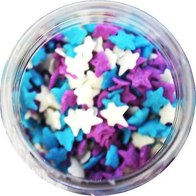 Light Blue, Purple, & White Stars Edible Sprinkles - 2.6 oz](Purple Sprinkles)