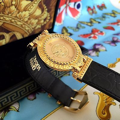 Gianni Versace Signature Medusa Gold Plated G20 Womens Watch W  Box From 1993
